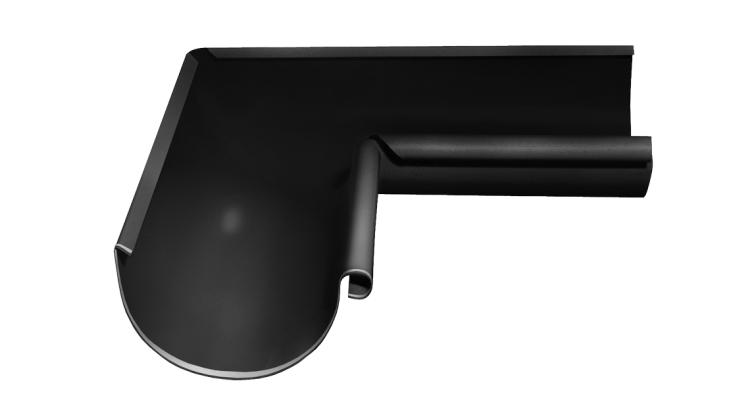 Угол желоба внутренний, 90 гр,125 мм RAL 9005