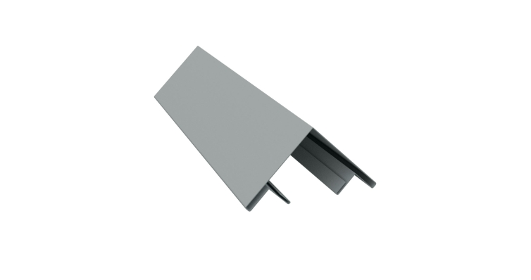 Планка угла внешнего составная верхняя 0,45 PE с пленкой RAL 7005