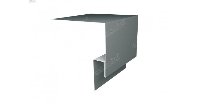 Планка околооконная сложная 200х50 (j-фаска) 0,45 PE с пленкой RAL 7005