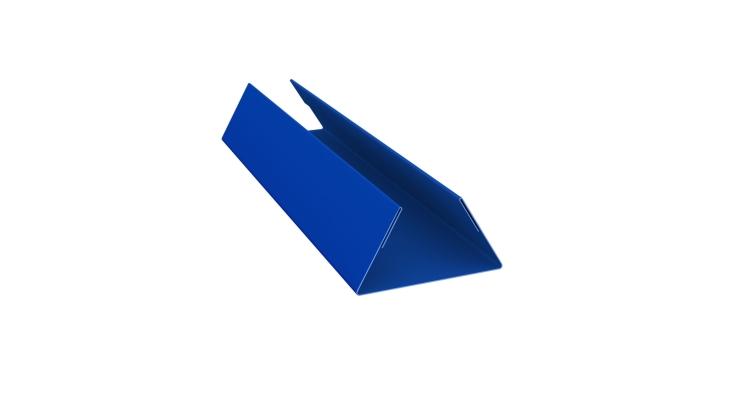 Планка стыковочная составная нижняя 0,45 PE с пленкой RAL 5005
