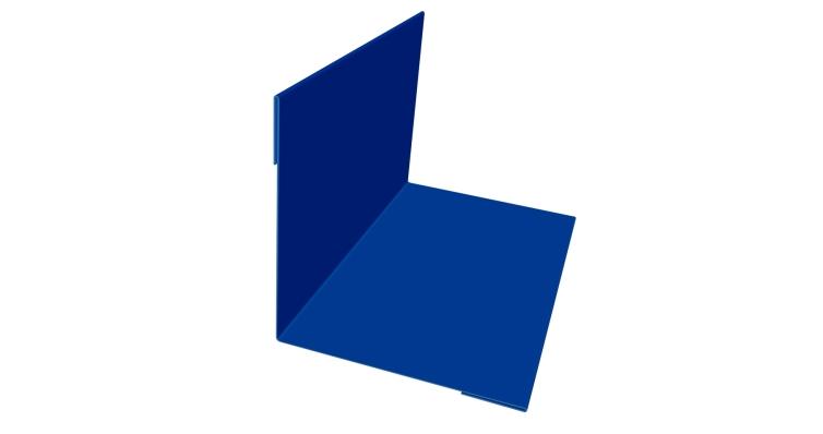 Угол внутренний 50х50 0,45 PE с пленкой 5005 сигнальный синий