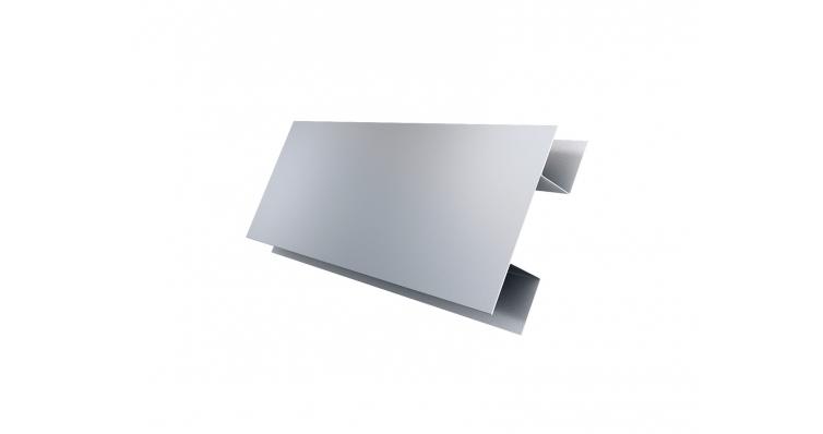 Планка H-образная 0,45 PE с пленкой RAL 9006 бело-алюминиевый