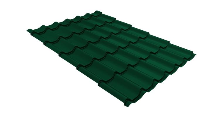 Металлочерепица классик 0,5 Satin RAL 6005 зеленый мох