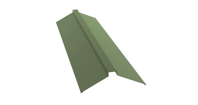 Планка конька плоского 115х30х115 0,45 PE с пленкой RAL 6019