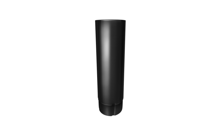 Труба круглая,90 мм 3 м RAL 9005