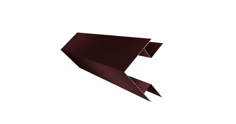 Планка угла внешнего сложного Экобрус GL 0,5 Quarzit lite с пленкой RAL 8017