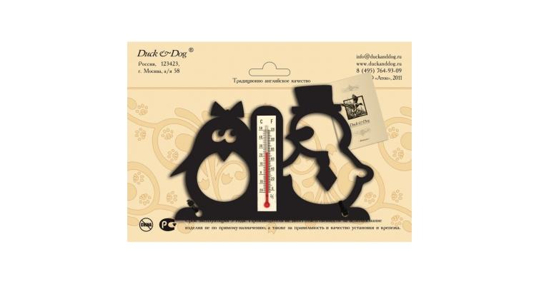 Термометр комнатный Duck & Dog 806 Пингвин и снеговик