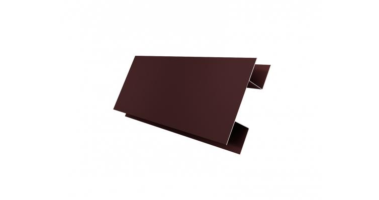 Планка H-образная 0,45 PE с пленкой RAL 8017 шоколад
