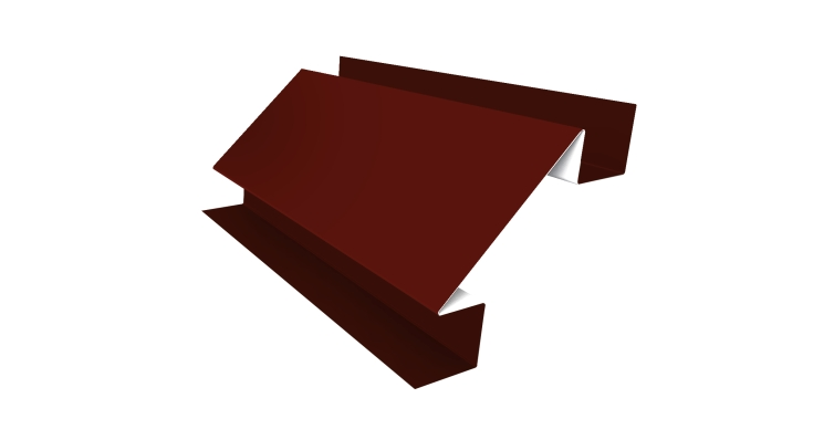Угол внутренний сложный 75мм 0,45 PE с пленкой RAL 3009 оксидно-красный