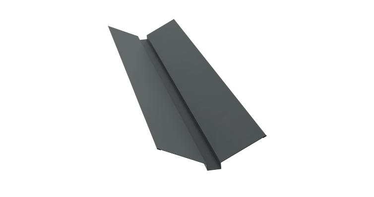 Планка ендовы верхней 115х30х115 0,45 PE с пленкой RAL 7005