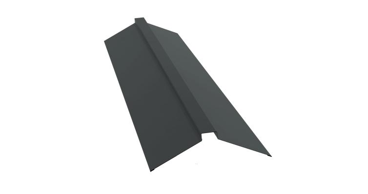 Планка конька плоского 150х40х150 0,45 PE с пленкой RAL 7005