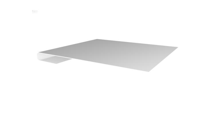 Планка завершающая 0,45 PE с пленкой RAL 9003 сигнальный белый