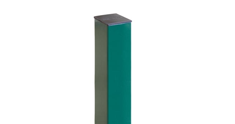 Столб 62х55х1,4х1500 RAL 6005 2 отверстия (1,03)