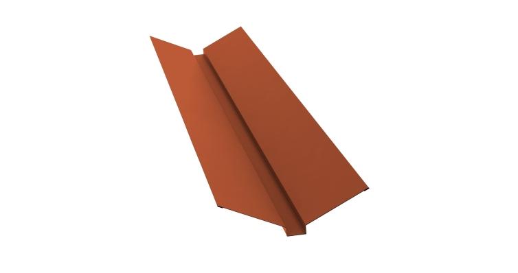 Планка ендовы верхней 115х30х115 0,5 Satin с пленкой RAL 8004