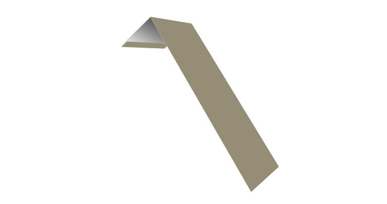 Планка лобовая/околооконная простая 190х50 0,5 Satin с пленкой RAL 1015 светлая слоновая кость