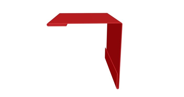Угол внешний 50х50 0,45 PE с пленкой RAL 3003 рубиново-красный