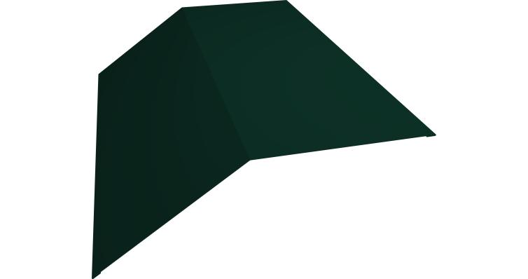 Планка конька плоского 145х145 0,5 Satin с пленкой RAL 6005