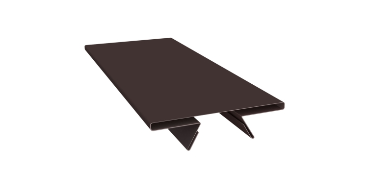 Планка стыковочная составная верхняя 0,5 Quarzit с пленкой RAL 8017