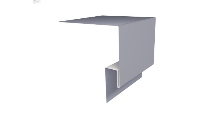 Планка околооконная сложная Блок-хаус GL 250х75 0,5 Satin с пленкой RAL 7004