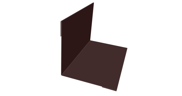 Планка угла внутреннего 110х110 0,5 Quarzit с пленкой RAL 8017