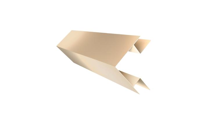 Планка угла внешнего сложного Экобрус GL 0,45 PE с пленкой RAL 1015