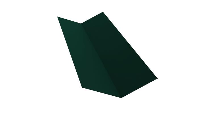 Планка ендовы верхней 145х145 0,5 Satin с пленкой RAL 6005