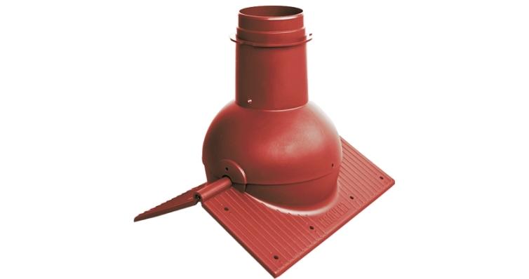 Коньковый элемент Krovent Pipe-Cone красный