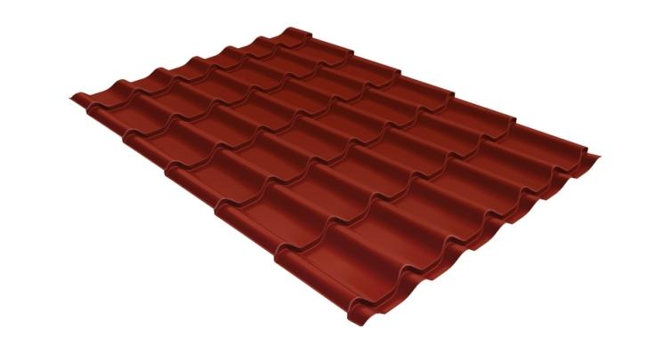 Металлочерепица модерн 0,45 PE RAL 3009 оксидно-красный