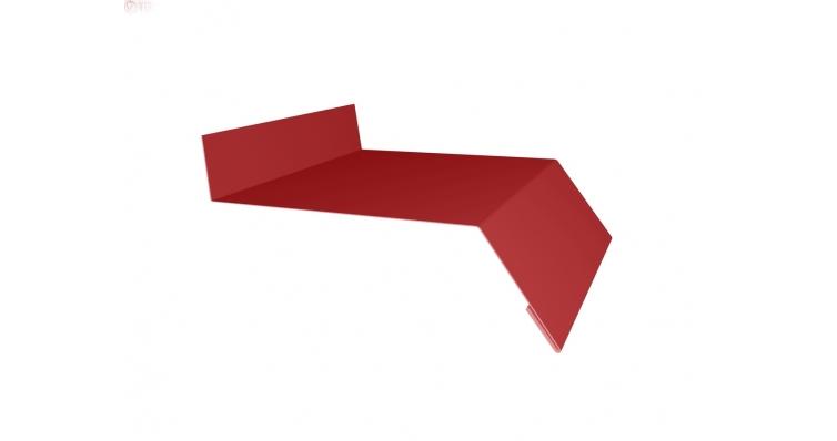 Отлив простой 50 0,45 PE с пленкой RAL 3003 рубиново-красный