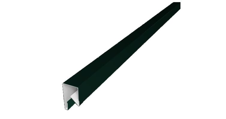 Планка П-образная заборная 17 0,5 Satin с пленкой RAL 6005