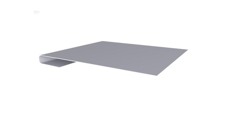 Планка завершающая 0,45 PE с пленкой RAL 7004 сигнальный серый
