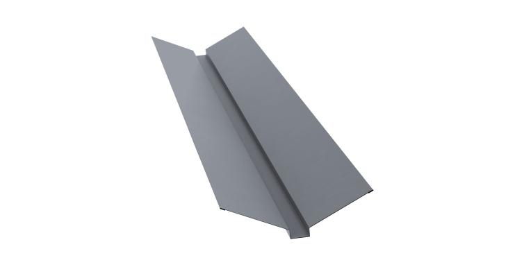 Планка ендовы верхней 115х30х115 0,45 PE с пленкой RAL 9006