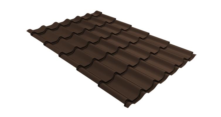 Металлочерепица классик 0,5 Стальной бархат RAL 8017 шоколад
