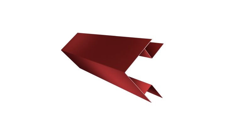 Угол внешний сложный 75х75 0,45 PE с пленкой RAL 3009 оксидно-красный