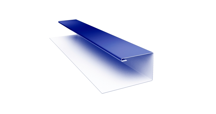 Планка П-образная 0,45 PE с пленкой RAL 5002