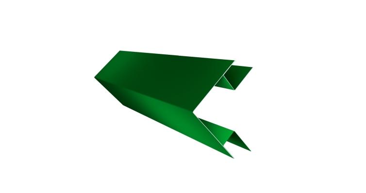 Угол внешний сложный 75х75 0,45 PE с пленкой RAL 6002 лиственно-зеленый