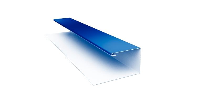 Планка П-образная Блок-хаус 0,5 Satin с пленкой RAL 5005