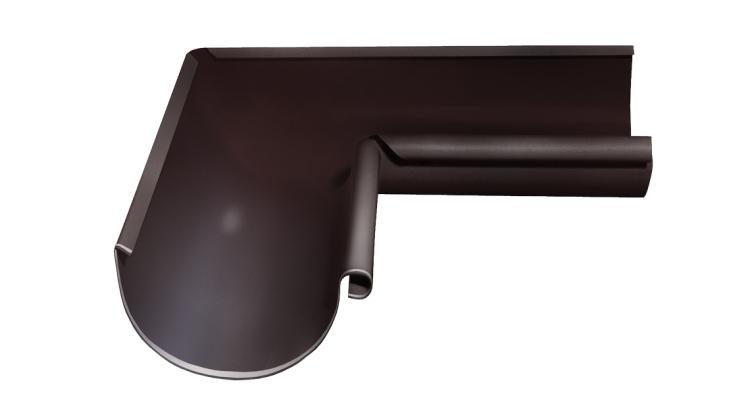 Угол желоба внутренний, 90 гр,125 мм RAL 8017
