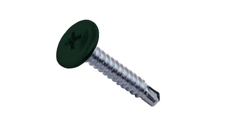 Саморезы ПШС 4,2х19 RAL 6005 (1000 шт)