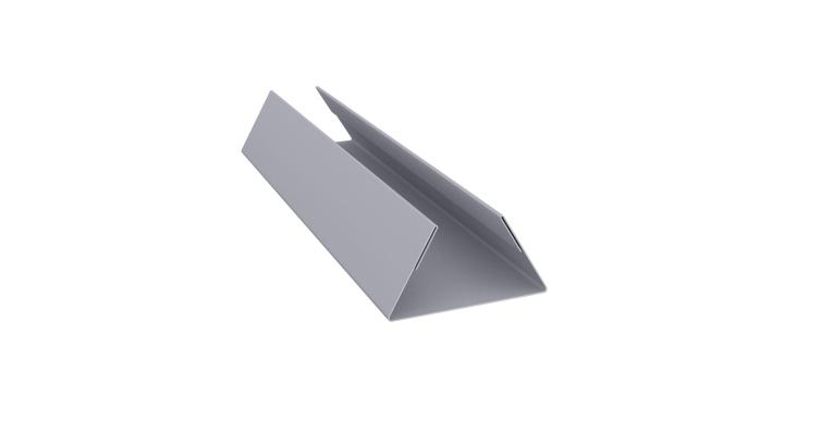 Планка стыковочная составная нижняя 0,5 Satin с пленкой RAL 7004