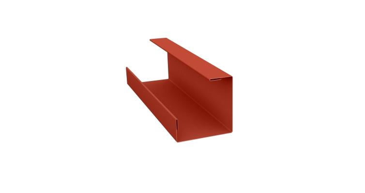Планка угла внутреннего составная нижняя 0,5 Satin с пленкой RAL 8004