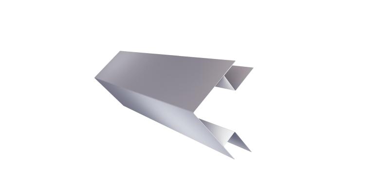 Планка угла внешнего сложного Экобрус 0,5 Satin с пленкой RAL 7004