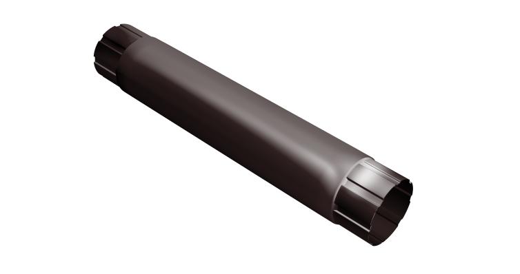 Труба круглая соединит,100 мм 1 м RAL 8017