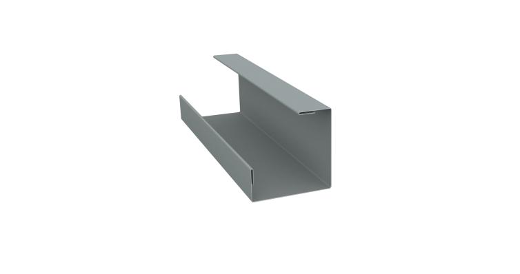 Планка угла внутреннего составная нижняя 0,45 PE с пленкой RAL 7005