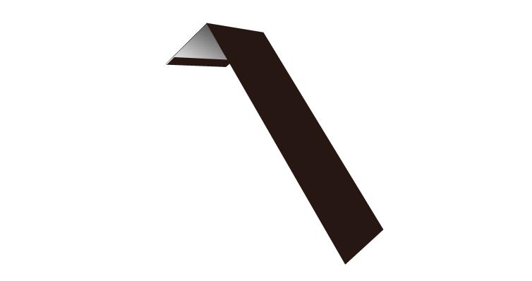 Планка лобовая/околооконная простая 190х50 0,5 Satin с пленкой RAL 8017