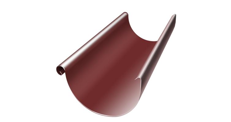 Желоб полукруглый, 125 мм, 3 м, RR 29 красный