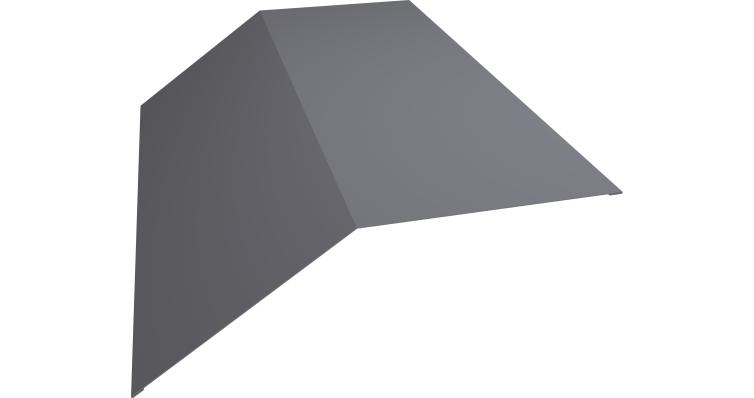 Планка конька плоского 145х145 0,5 Satin с пленкой RAL 7004