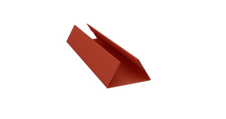 Планка стыковочная составная нижняя 0,5 Satin с пленкой RAL 8004