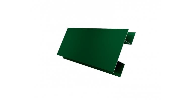 Планка H-образная 0,45 PE с пленкой RAL 6005 зеленый мох