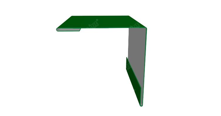 Угол внешний 50х50 0,45 PE с пленкой RAL 6002 лиственно-зеленый